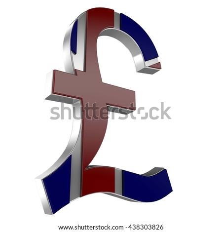 England Sterling Sign Currency Symbol 3 D Stock Illustration