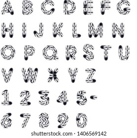 English alphabet from computer mauses