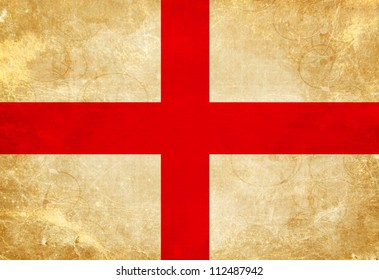 English flag with a vintage and old look
