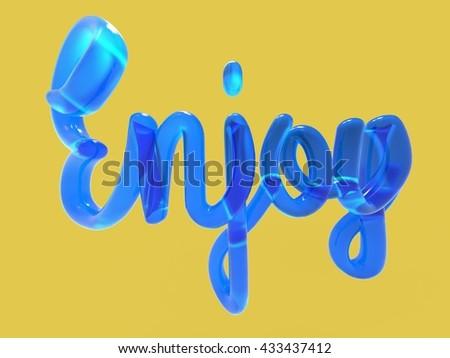 Enjoy 3D lettering
