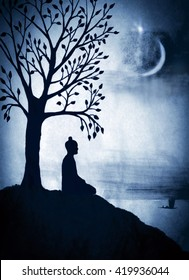 Enlightenment of the Buddha under the Bodhi tree