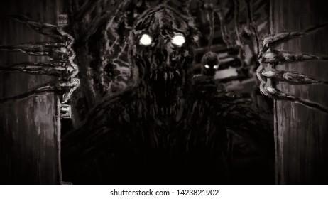 Creepy Open Door Images Stock Photos Vectors Shutterstock