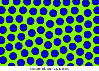 Entertainment illustration. Irregular pattern. Throng based on smart smileys.