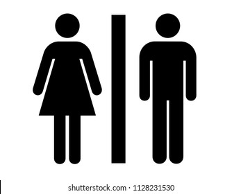ENTRY PLATE FOR WOMEN AND MEN. BOARD WITH FEMALE AND MALE ICONE