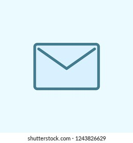 the envelope field outline icon. Element of 2 color simple icon. Thin line icon for website design and development, app development. Premium icon on light background