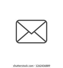 Envelope line icon isolated on white