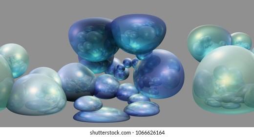 Environment map. HDRI map. Equirectangular projection. Spherical panorama. Abstract background, Abstract cubes background, multicub background, abstraction 3D rendering