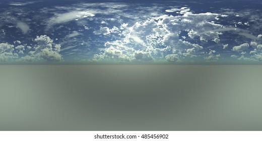 Environment map. HDRI map. Equirectangular projection. Spherical panorama. 3d rendering