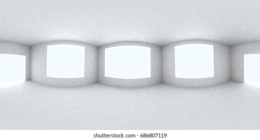 Environment map. HDRI map. Equirectangular projection. Spherical panorama. Abstract background, Room, 3d rendering