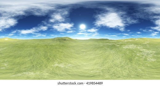 environment map, hdri high resolution map. round panorama, spherical panorama, equidistant projection, land under heaven, 3d rendering
