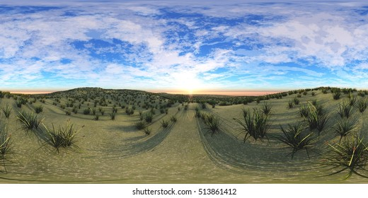 environment map ,HDRI High resolution map. Round panorama, spherical panorama, equidistant projection, land under heaven. 3d rendering