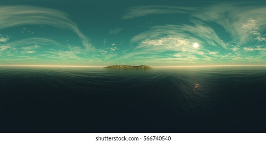 environment map ,HDRI High resolution map. Round panorama, spherical panorama, equidistant projection, land under heaven, 3d rendering