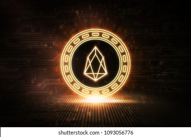 EOS - EOS - 3D Cryptocurrency Neon Coin