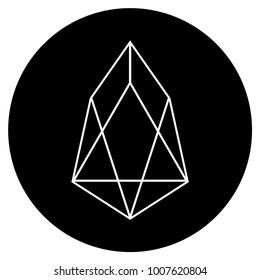 Eos Currency flat raster pictogram. An isolated icon on a white background.