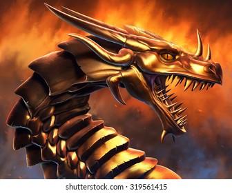 Epic Golden Dragon