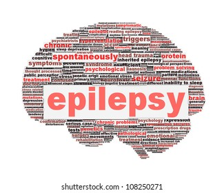 Epilepsy symbol concept isolated on white. Neurological disorder icon conceptual design