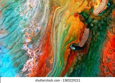 Epoxy Resin Petri Dish Art macro photo