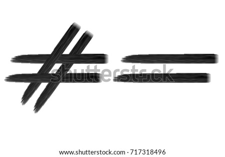 equal sign not equalのイラスト素材 717318496 shutterstock
