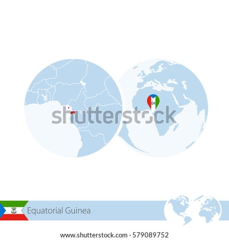Royalty Free Stock Illustration of Equatorial Guinea On ... on equatorial guinea africa, ghana world map, cape verde world map, equatorial guinea on map south america, malabo map, equator location on map, heremakono on the location of guinea africa map, tunisia world map,