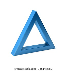 Equilateral Triangle. 3D Render Illustration