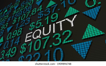 Equity Stock Market Wall Street Jobs Careers Investment Finance 3d Illustration