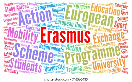 Erasmus word cloud concept