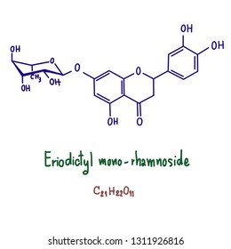 Eriodictyol is a bitter-masking flavanone, a flavonoid extracted from yerba santa (Eriodictyon californicum), a plant native to North America.[1] Eriodictyol is one of the four flavanones identified