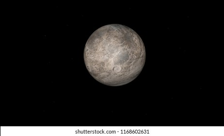 Eris. Second dwarf planet by mean diameter of the solar system, 3D image, 3D rendering