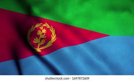 ERITREA  Desk Top Table National Country Flag New