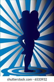 erotic silhouette illustration
