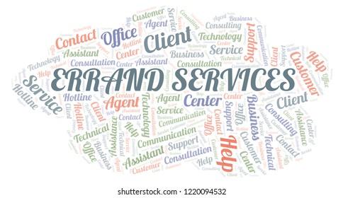 Errand Services word cloud.