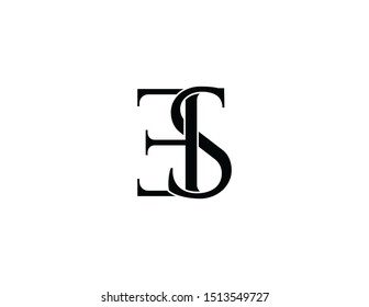 Es Original Monogram Logo Design Stock Illustration 1513549727