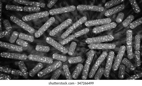 Escherichia coli also known as Ecoli bacteria in health science background 3D generated graphic