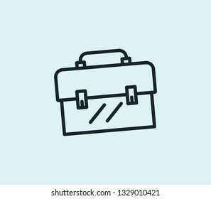 Essential toolkit icon line isolated on clean background. Essential toolkit icon concept drawing icon line in modern style.  illustration for your web mobile logo app UI design.