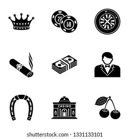 Establishment icons set. Simple set of 9 establishment icons for web isolated on white background