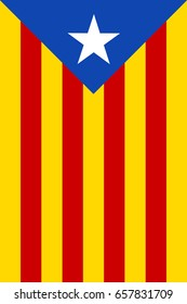 Estelada Blava, The Blue Starred  independist Flag of Catalonia - Banner version