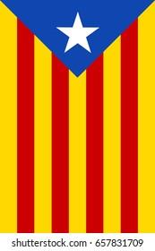 Estelada Blava, The Blue Starred  independist Flag of Catalonia - Banner version