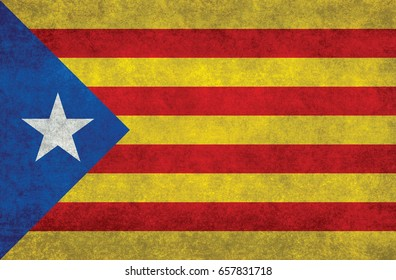 Estelada Blava, The Blue Starred  independist Flag of Catalonia