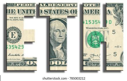 ETH, ethereum. US Dollar texture.
