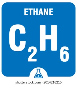 Ethane C2H6. Alkaline earth metals. Ethane C2H6 Chemical formula. Ethane gas in square cube creative concept. C2H6 formula. Gas fuel Ethane Chemistry, laboratory, science background for university use