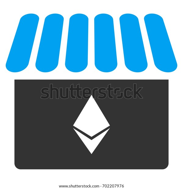 Ethereum Store flat raster pictograph for application and web design.