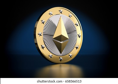 Ethereum the Virtual Crypto Currency - 3D Rendering