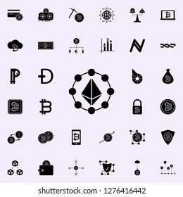Etherium coin icon. Crypto currency icons universal set for web and mobile
