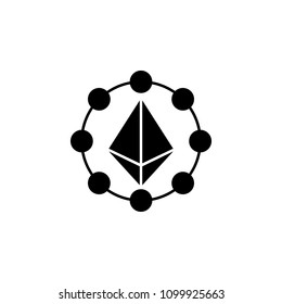 Etherium coin icon. Element of Crypto currency icon for mobile concept and web apps. Detailed Etherium coin icon can be used for web and mobile. Premium icon on white background