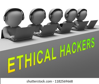 Ethical Hacker Tracking Server Vulnerability 3d Rendering Shows Testing Penetration Threats To Protect Against Attack Or Cybercrime