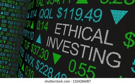 Ethical Investing Good Moral Stock Market Business 3d Illustration