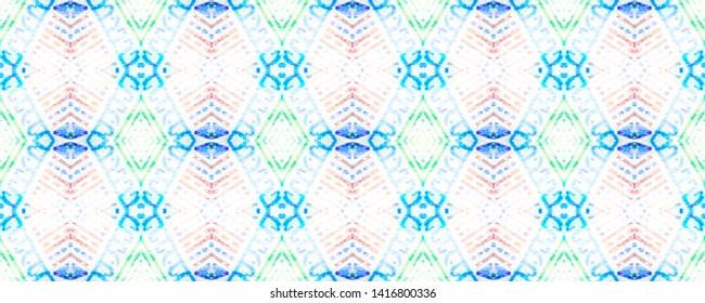Ethnic embroidery. Seamless aztec pattern. Cute endless ornament. Modern folk design. Tribal endless fabric. Cute geometric print. White, cyan, black, red, green ethnic embroidery.