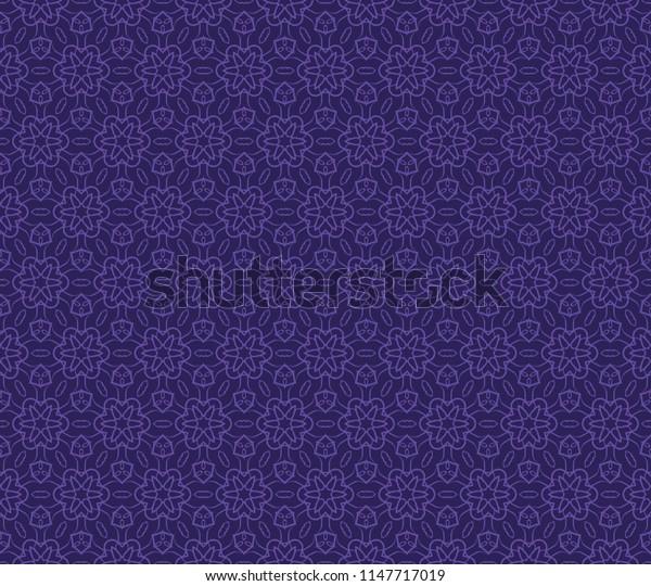 Ethnic floral seamless pattern.   illustration. design for wallpaper