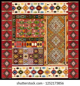Ethnic Kilim Scarf Design