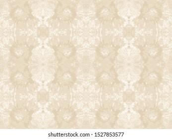 Ethnic Tie Dye. Beige Bohemian Art. Ikat Wallpaper. Ivory Boho Rug. Bleach Dye Wash. Ecru Shibori Print. Seamless Zig Zag Design. Natural Linen Repeat. Navajo White Ornament.